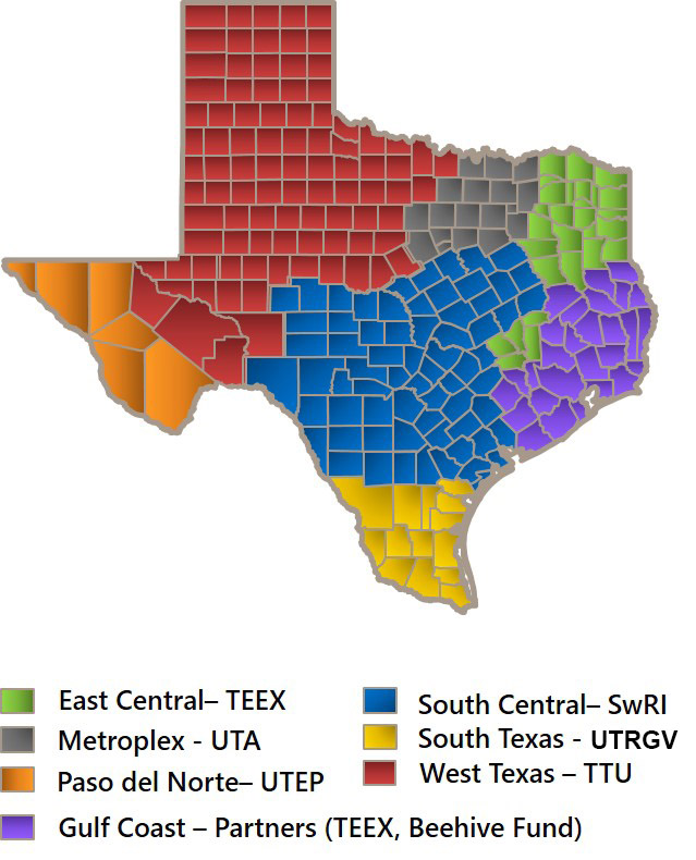 Map Of South Central Texas.Tmac Serving Texas Manufacturers With Seven Locations